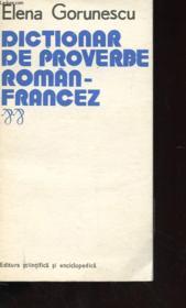 Dictionar De Proverbe Ramoan-Francez - Couverture - Format classique
