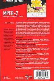 Mpeg 2 - 4ème de couverture - Format classique
