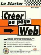 Le Starter. Creer Sa Page De Web - Couverture - Format classique