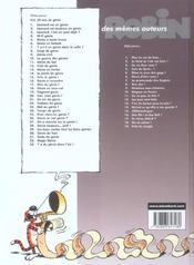 Léonard t.20 ; ciel mon génie - 4ème de couverture - Format classique
