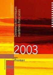 Donées économiques maritimes françaises (2003) - Couverture - Format classique