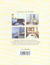 Salles de bains - 4ème de couverture - Format classique
