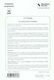 11 15 ans les enjeux d'une revolution - 4ème de couverture - Format classique