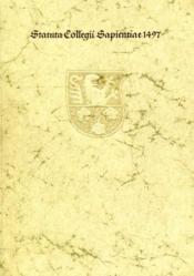 Statuta collegii Sapientiae Satzungen des Collegium Sapientiae zu Freiburg im Breisgau. 1497. - Couverture - Format classique