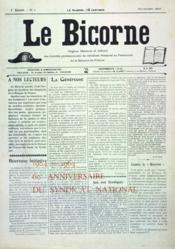 Bicorne (Le) N°1 du 01/11/1910 - Couverture - Format classique