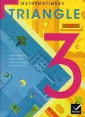 TRIANGLE HATIER ; mathématiques ; 3ème ; manuel de l'élève (édition 2012) - Couverture - Format classique