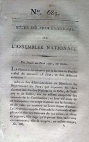 Assemblee Nationale N°683 du 16/06/1791 - Couverture - Format classique