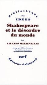 Shakespeare et le désordre du monde - Couverture - Format classique