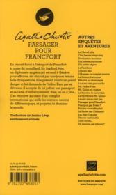 Passager pour Francfort - 4ème de couverture - Format classique