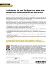 La révolution ToC Lean Six Sigma dans les services ; comprendre, analyser et améliorer la performance de sa relation de service - 4ème de couverture - Format classique
