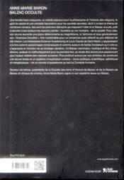 Balzac occulte - 4ème de couverture - Format classique
