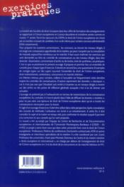 Droit de l'union européenne (2e édition) - 4ème de couverture - Format classique