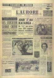 Aurore (L') N°4955 du 12/08/1960 - Couverture - Format classique