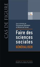 Faire des sciences sociales t.3 ; généraliser - Couverture - Format classique