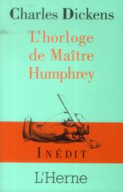 L'horloge de maître Humphrey - Couverture - Format classique