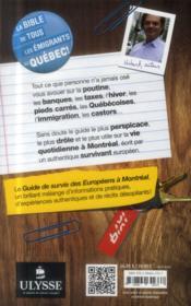 Guide de survie des Européens à Montréal (3e édition) - 4ème de couverture - Format classique