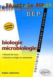 Biologie Microbiologie Bep Carrieres Sanitaires Et Sociales 2e Edition Resume De Cours Exercices - Intérieur - Format classique