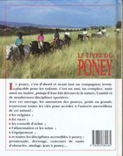 Le Livre Du Poney - 4ème de couverture - Format classique