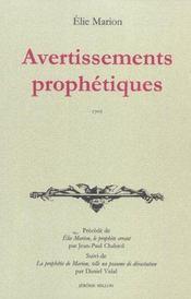 Avertissements Prophetiques - Intérieur - Format classique