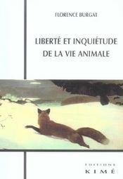 Liberte et inquietude de la vie animale - Intérieur - Format classique