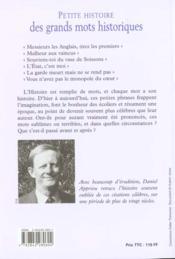 Petite histoire des grands mots historiques. de Jules César à Jacques Chirac, 2000 ans de petites phrases - 4ème de couverture - Format classique
