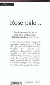 Rose pale - 4ème de couverture - Format classique