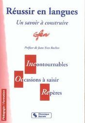 Reussir En Langues 2e Ed - Intérieur - Format classique