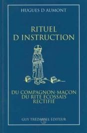 Compagnon Rituel D'Instruction Macon (Rer) - Couverture - Format classique