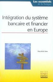 Integration du systeme bancaire et financier en europe - Intérieur - Format classique