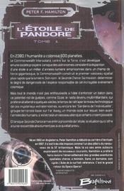 L'étoile de Pandore t.1 - 4ème de couverture - Format classique