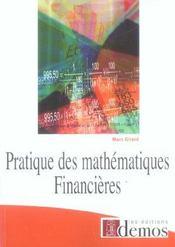 Pratique Des Mathemathiques Financieres - Intérieur - Format classique