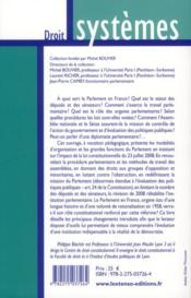 Le parlement en France - 4ème de couverture - Format classique
