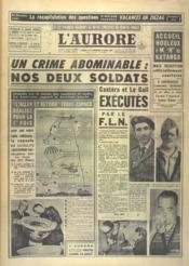 Aurore (L') N°4956 du 13/08/1960 - Couverture - Format classique