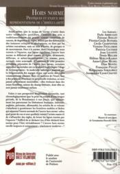 Revue La Licorne ; Hors Norme ; Pratiques Et Enjeux Des Représentations De L'Irrégularité - 4ème de couverture - Format classique