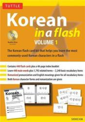 Korean in a flash kit volume 1 /anglais - Couverture - Format classique