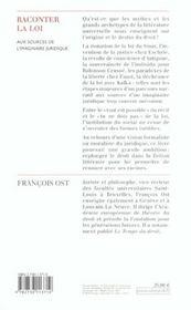 Raconter La Loi - 4ème de couverture - Format classique
