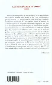 Les Imaginaires Du Corps T.2 ; Arts Sociologie Anthropologie Pour Une Apporche Interdisciplinaire Du Corps - 4ème de couverture - Format classique