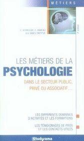 Les métiers de la psychologie (5e édition) - Intérieur - Format classique