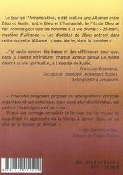 A L'Ecoute De Marie T.1 ; 25 Mars Mystere D'Alliance ; Avec Marie Dans La Lumiere - 4ème de couverture - Format classique