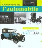 Dictionnaire De L'Automobile 1885-1939 (Volume 1) - Intérieur - Format classique