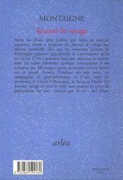 Journal de voyage - 4ème de couverture - Format classique