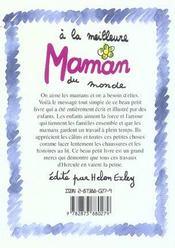 A La Meilleure Maman Du Monde - 4ème de couverture - Format classique