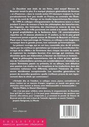 Cinquantenaire Du Deuxieme Sexe - 4ème de couverture - Format classique