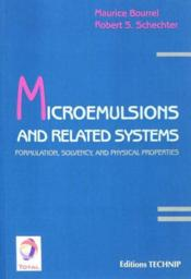 Vente  Microemulsions And Related Systems  - Maurice Bourrel