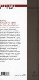 Europe, le regard des artistes / europe: the artists' view - 4ème de couverture - Format classique