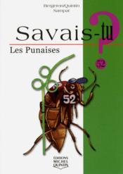 Savais-Tu ? T.52 ; Les Punaises - Couverture - Format classique