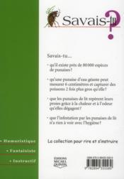 Savais-Tu ? T.52 ; Les Punaises - 4ème de couverture - Format classique