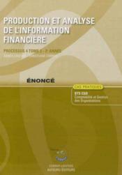 Production Et Analyse De L'Information Financiere T2 Enonce Processus 4 Du Bts C - Couverture - Format classique
