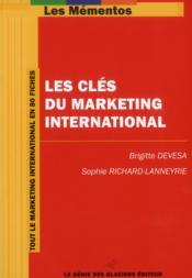 Les clés du marketing international - Couverture - Format classique