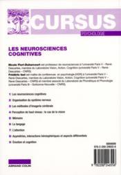 Les neurosciences cognitives (2e édition) - 4ème de couverture - Format classique